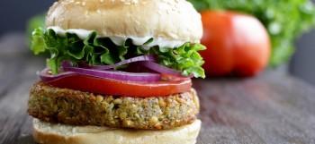 Vegan falafel burger